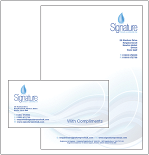 Signature Pools Stationery